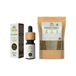 Zestaw olej CBD 5% + herbata