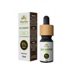 Olej konopny Natural 5% (500mg) Full Spectrum - 10ml